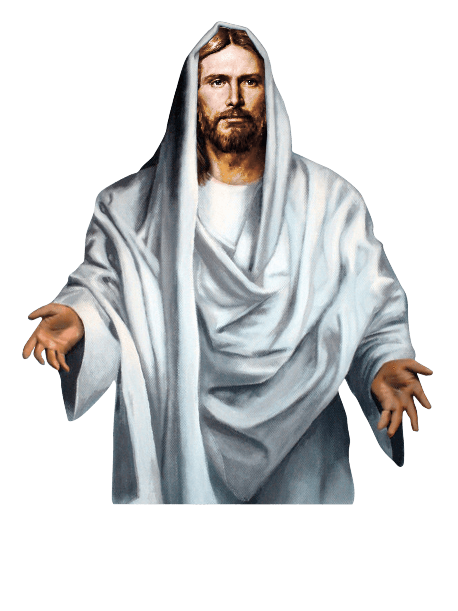 Jesus clipart transparent background. Christ white png stickpng