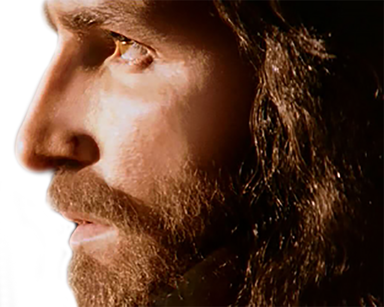 Jesus face png. A love story for