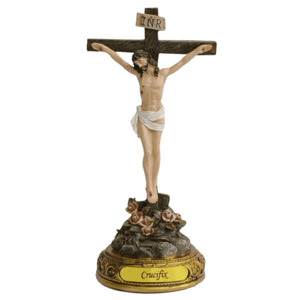 Crucifix transparent stickpng. Jesus on the cross png black and white