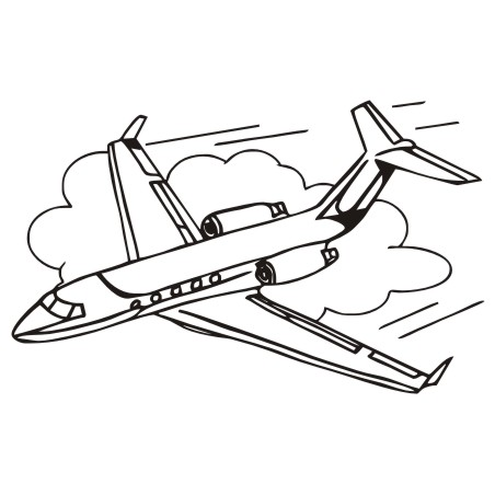 Jet clipart drawing. Coloring free collection download