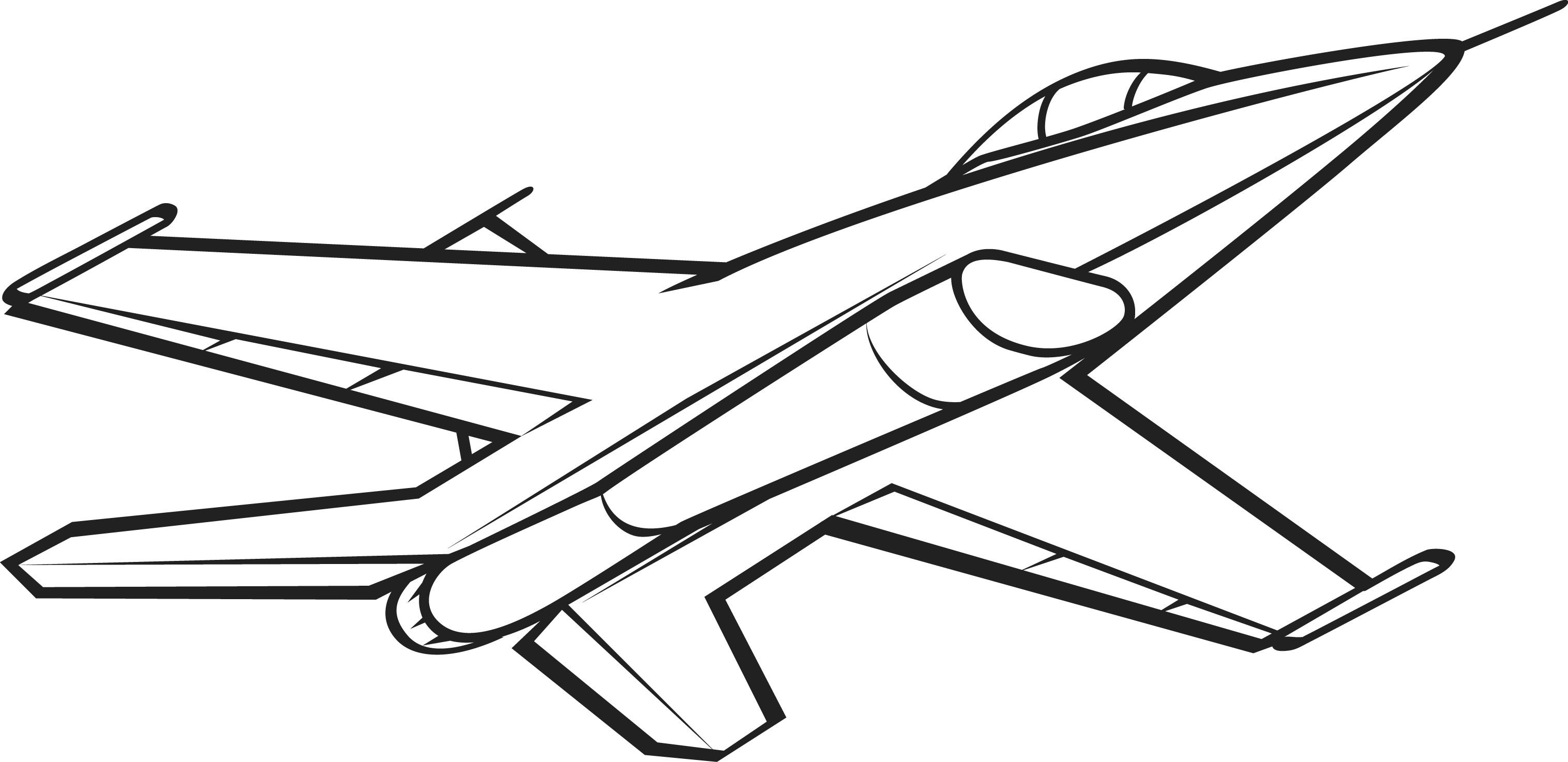 Jet clipart drawing. Black and white picture