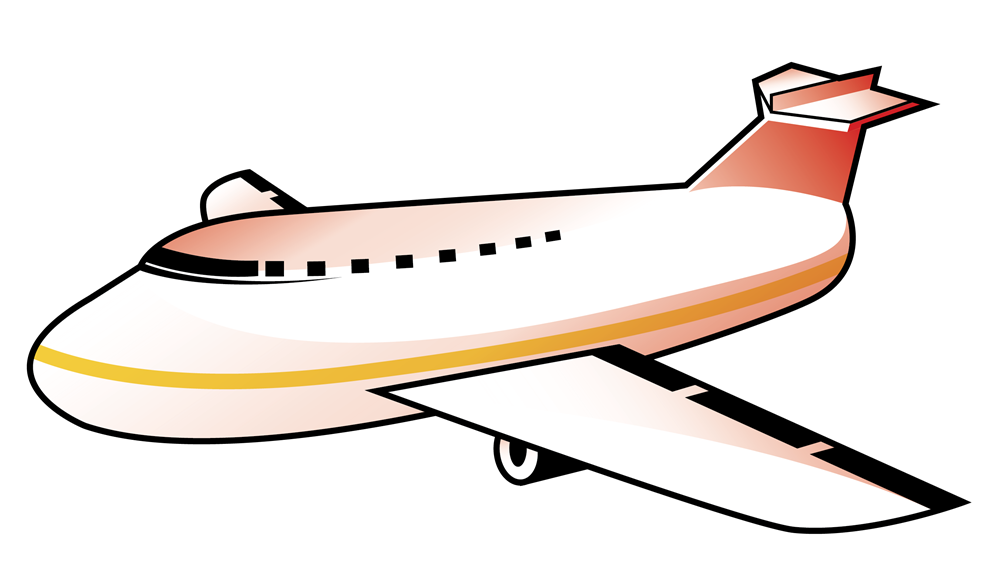 Plane clipart. Airline direct flight fly