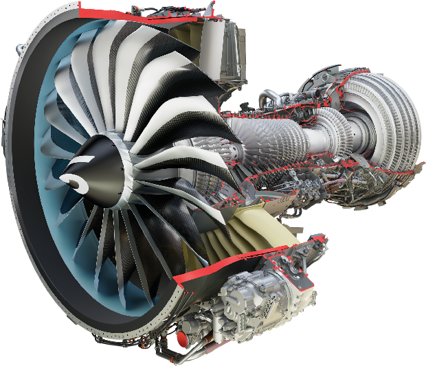 Jet engine png. Ge annual report building