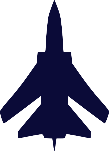 vector jet silhouette