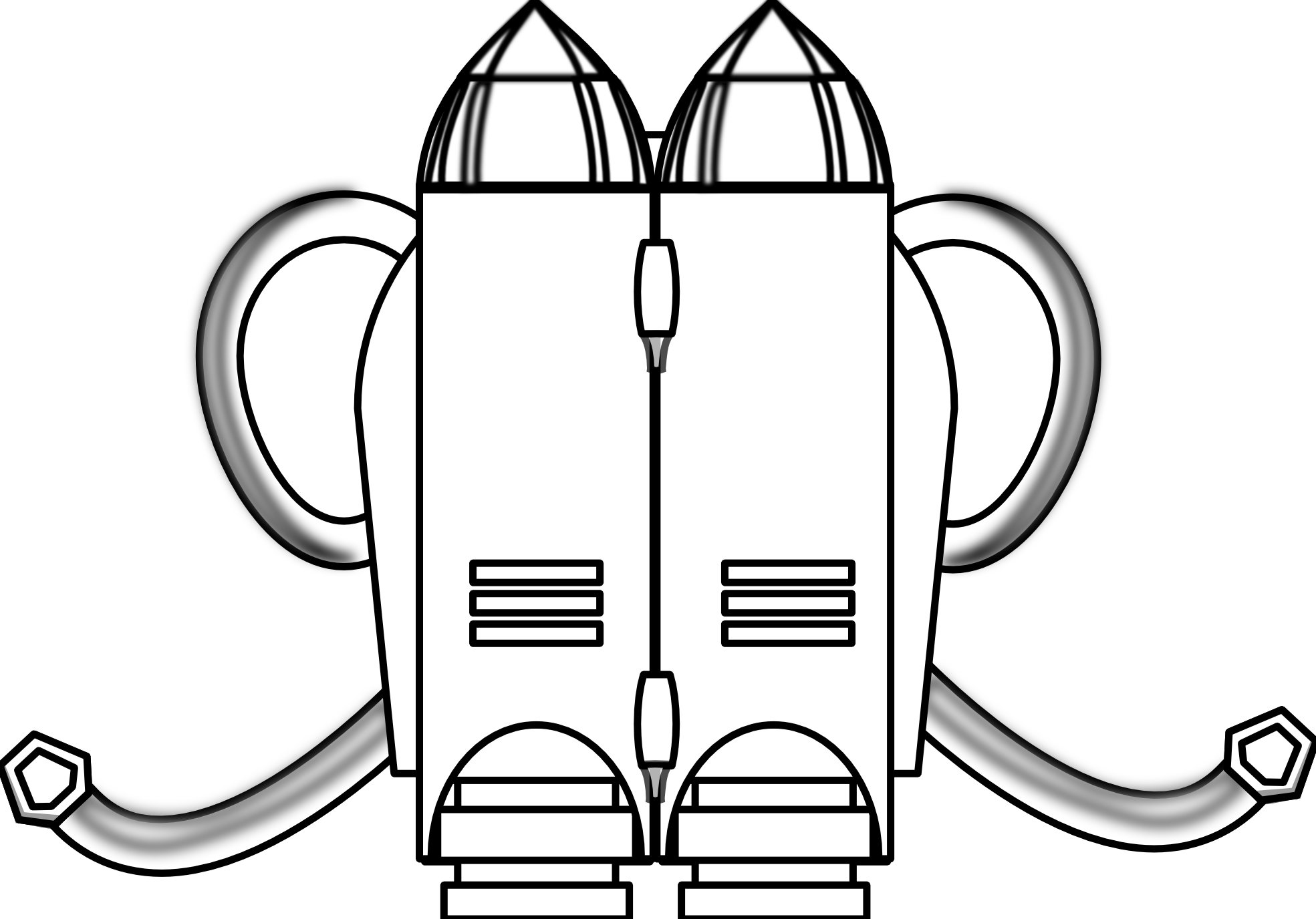 Jetpack drawing. Collection of jet