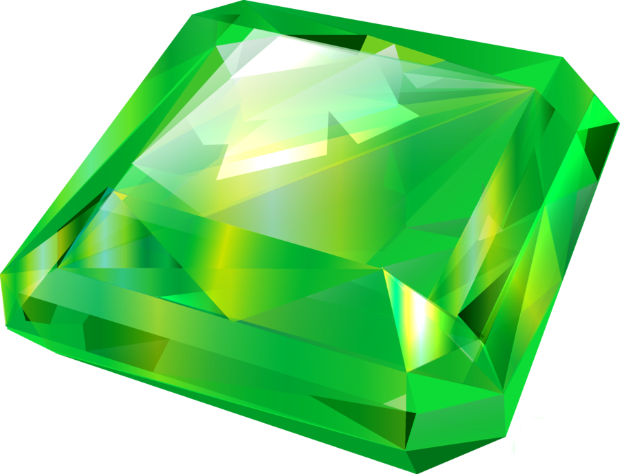 Transparent mineral green colored. Emerald png images free