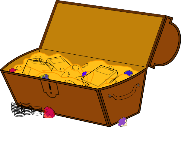 Chest clip correct. Free treasure clipart group