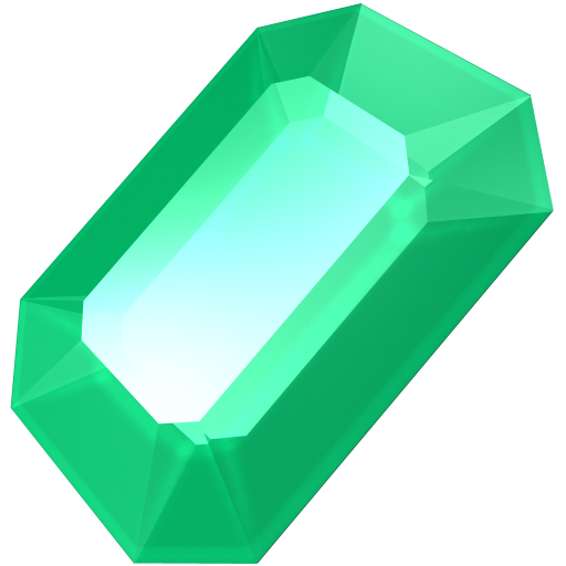 transparent gem emerald