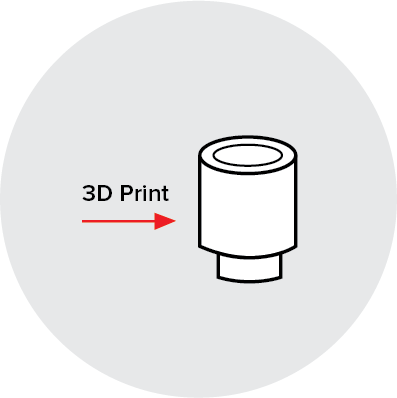 Jewelry clip 3d printed. D printing applications hubs