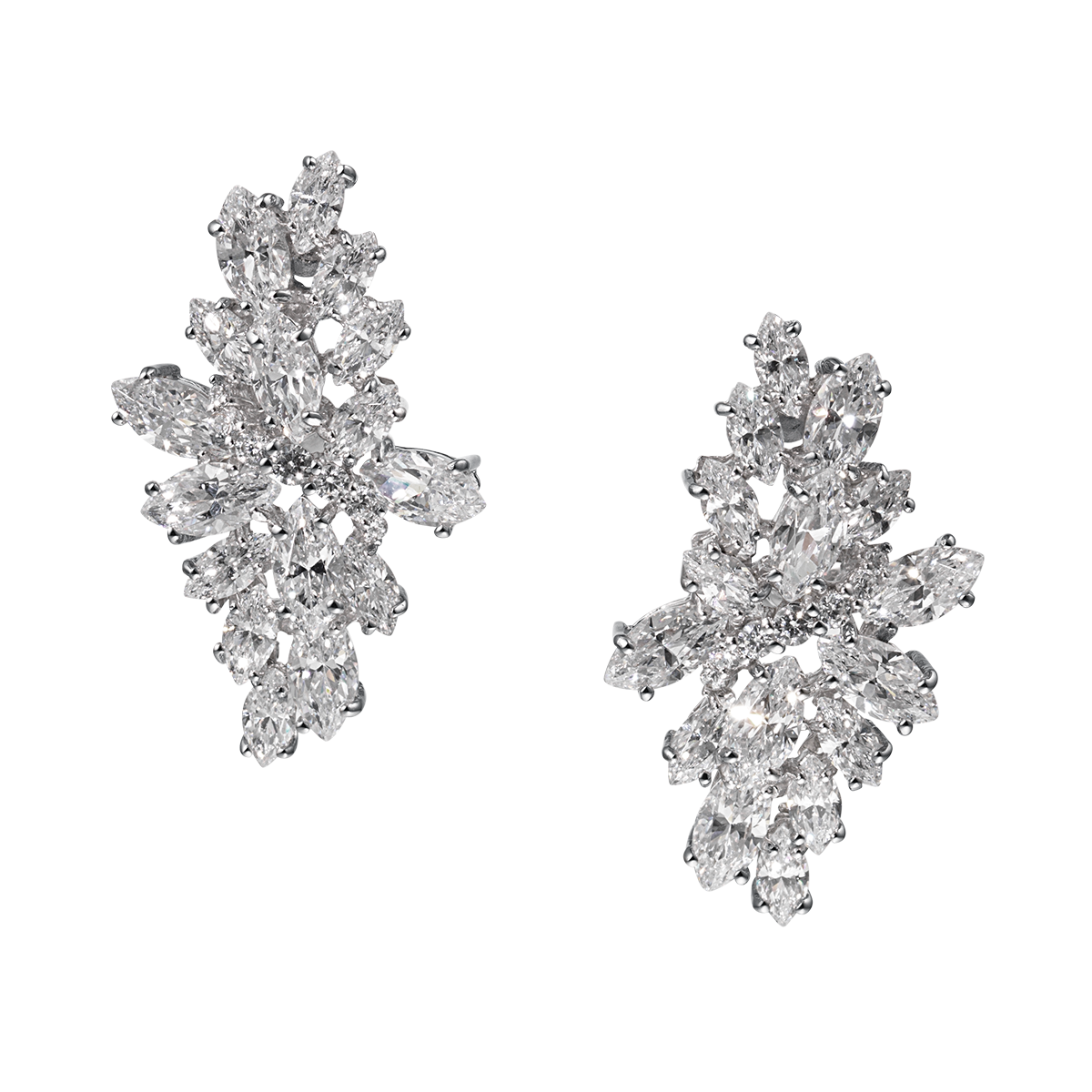 Jewelry clip. Annabelle diamond cluster earrings