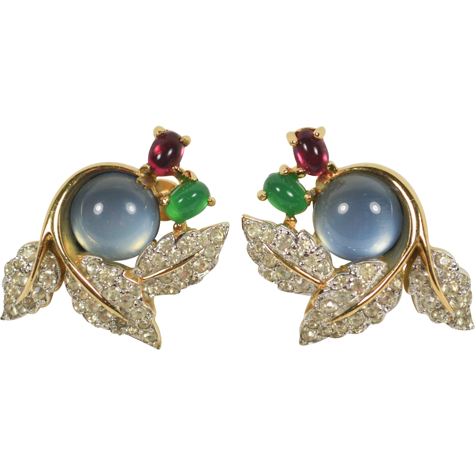 Vintage jomaz moonglow cabochon. Jewelry clip fashion picture royalty free library