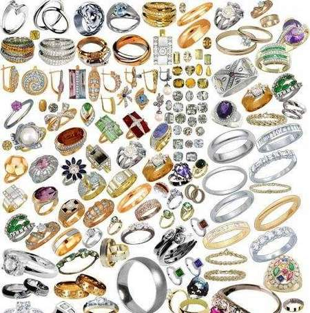 Jewelry clipart file. Psd download gold items