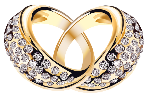Wedding band png. Gold rings with diamonds