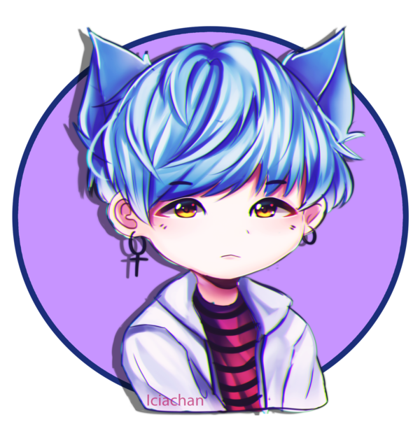 Drawing bts anime. Stickers suga by iciachan