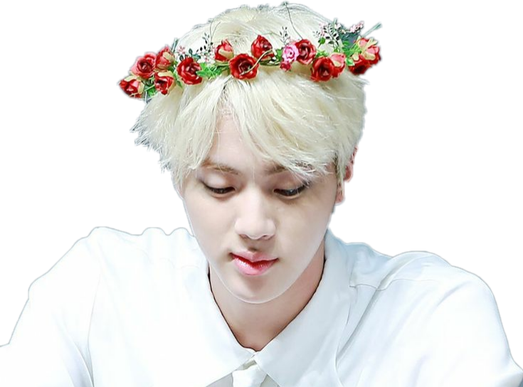 Jin transparent flower crown. Seokjin kimseokjin bts fansign