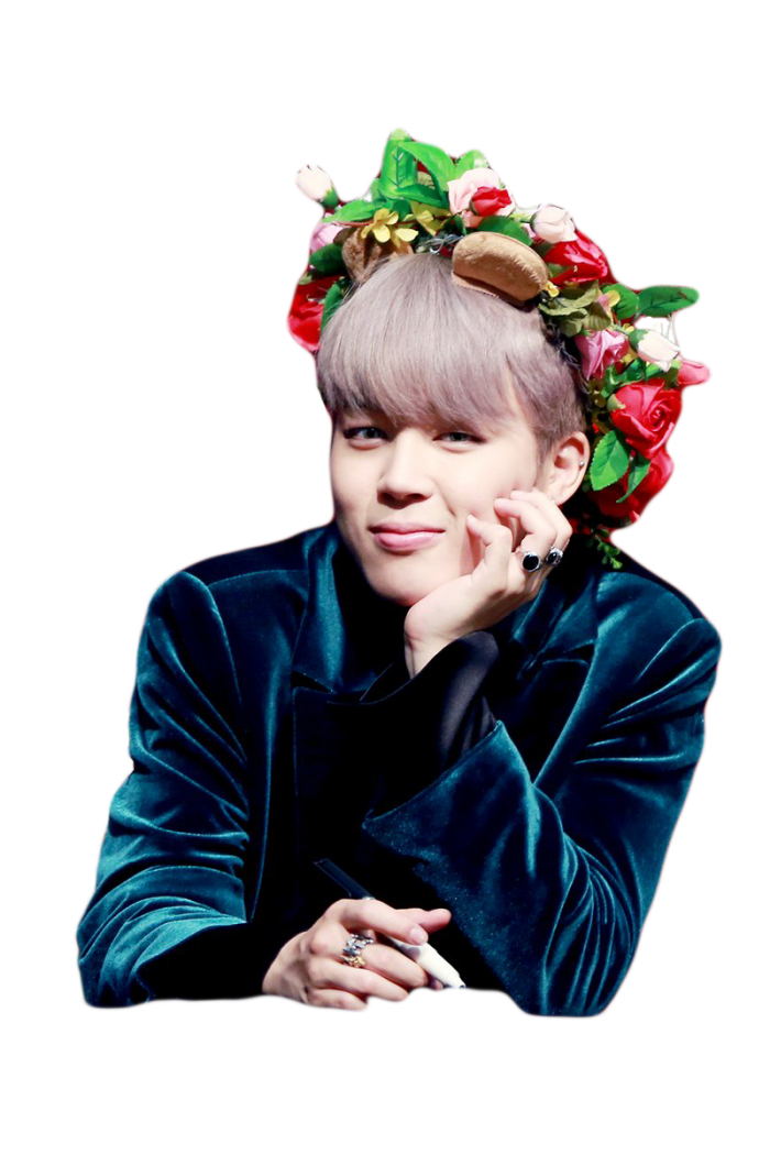 Jin transparent flower crown. Avatan plus bts fancam
