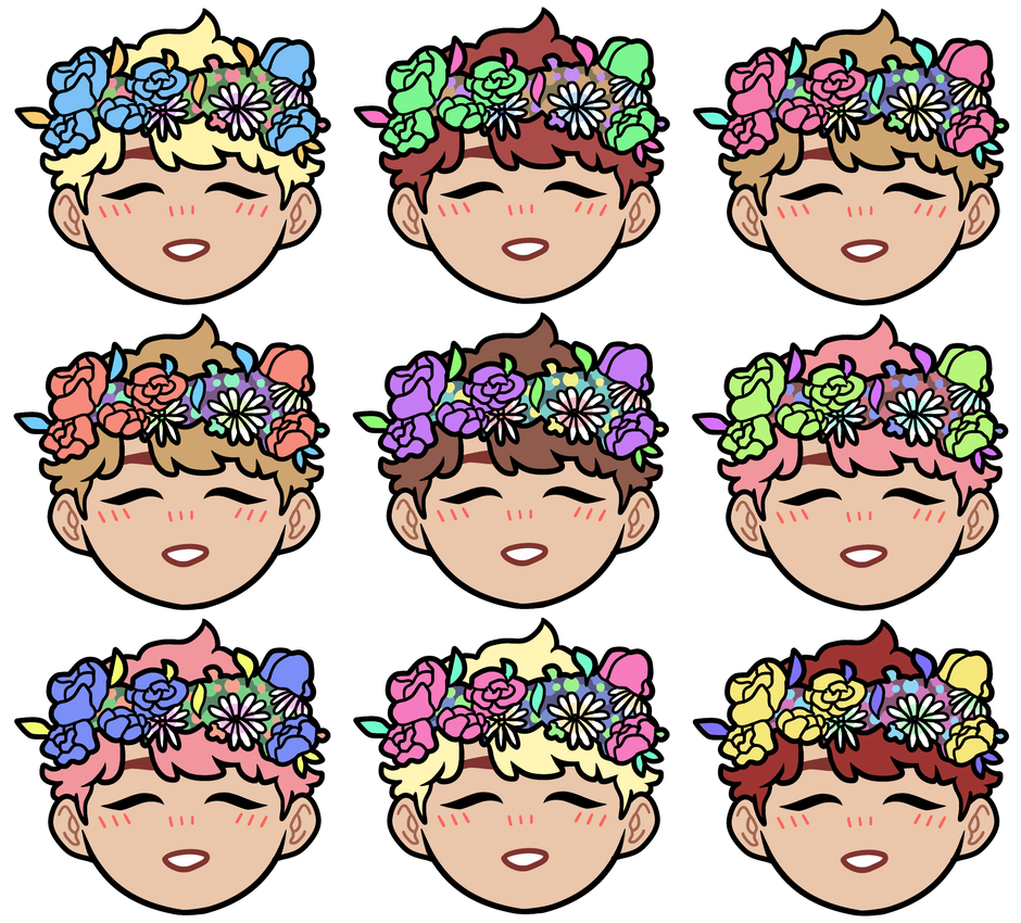Jin transparent flower crown. Ft crowns pattern buy