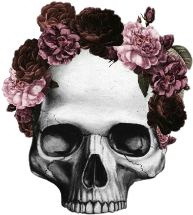 Jin transparent flower crown. Death flowercrown dark skull