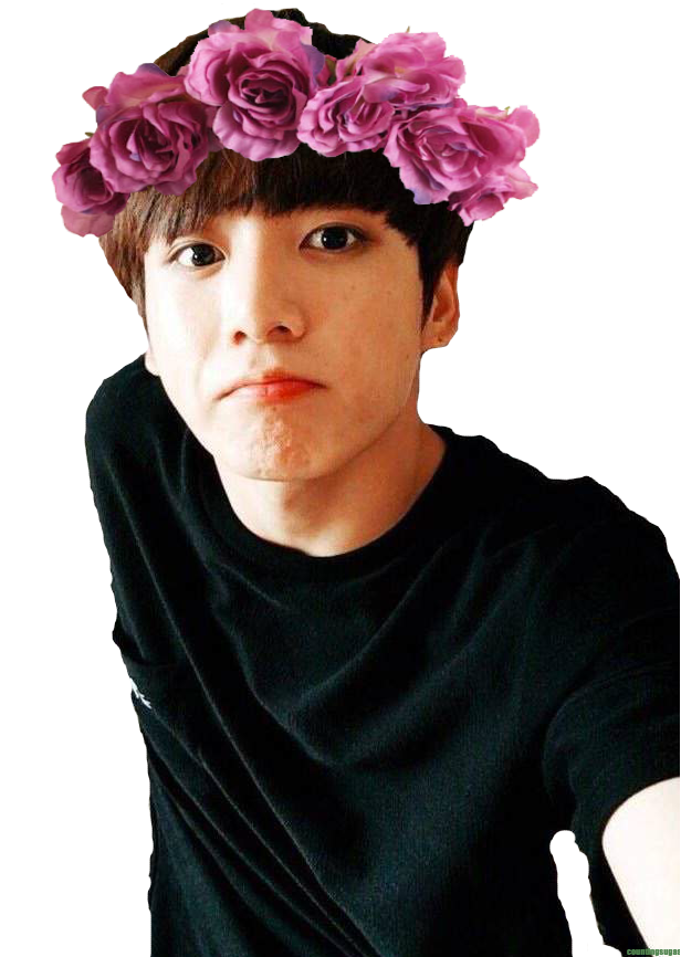 Jin transparent flower crown. Jungkook bts k pop