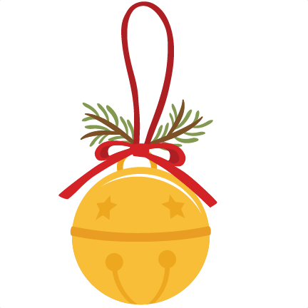 Jingle bells silhouette at. Bell svg file clip library download