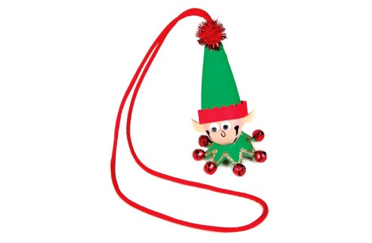 Jingle clipart necklace. Nicole crafts elf bell