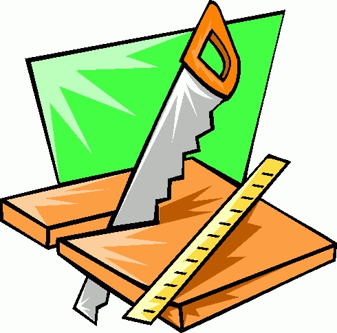 Carpentry clipart. Carpenter tools letters collection