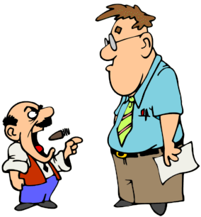 Yelling clipart employment law. A bad work environment