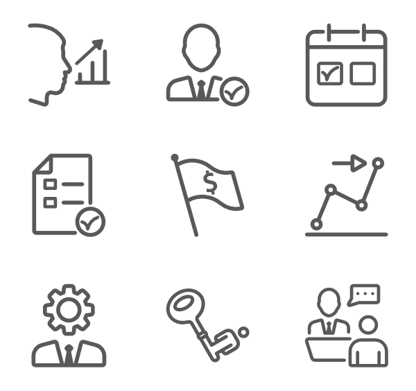 Working vector work symbol. Job icons free business