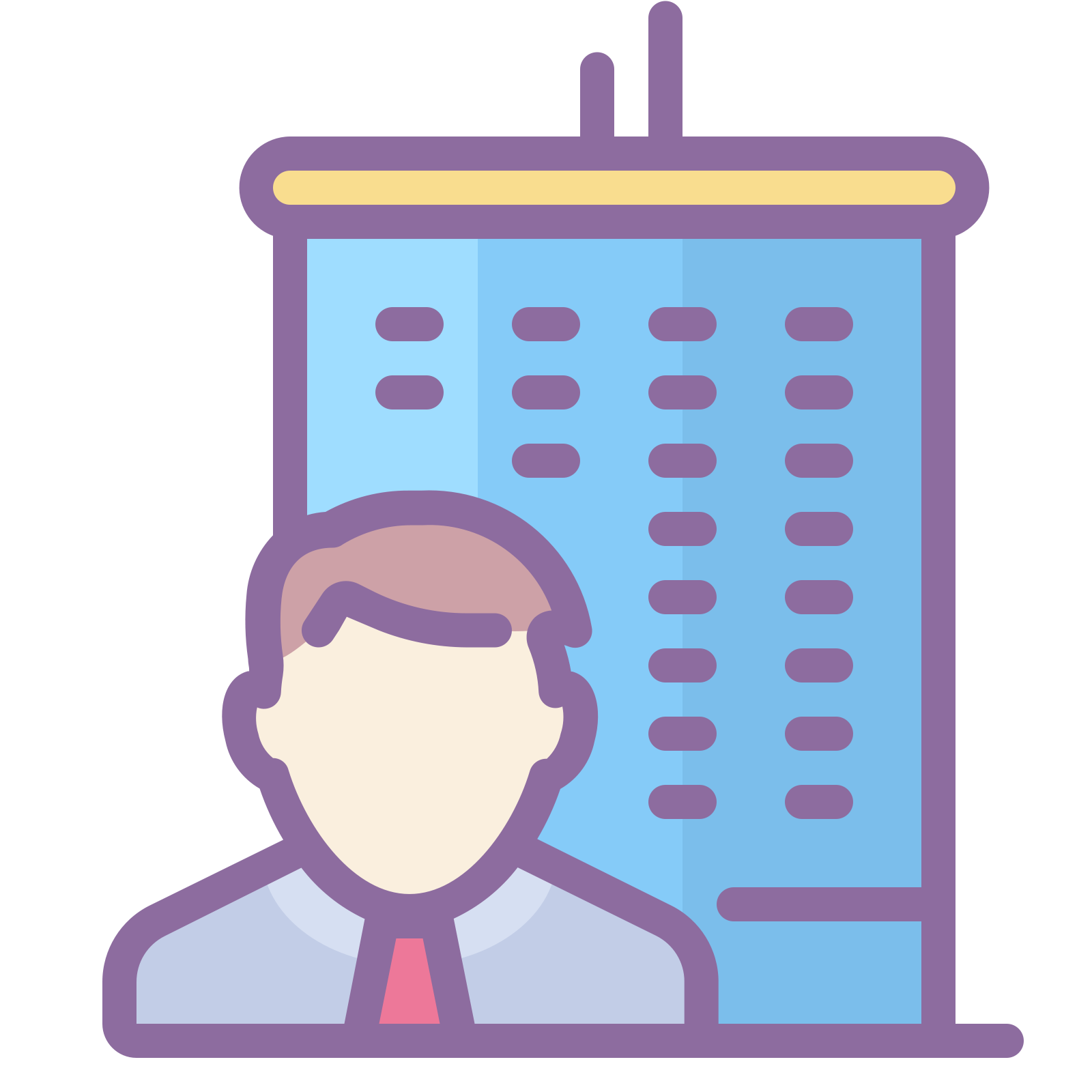 Vector suit job ad. Permanent icon free download