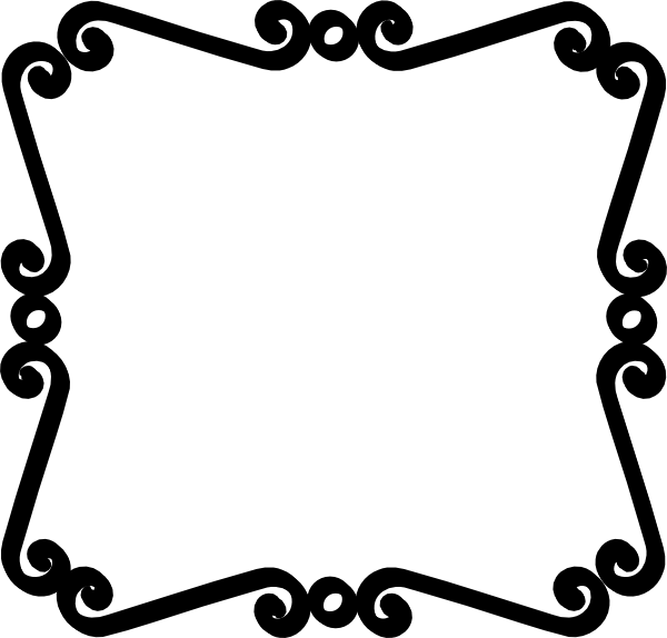 Drawing scrolls simple. Scroll work border clipart