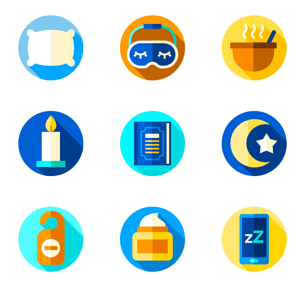 Sleeping vector transparent. Dream icons free time
