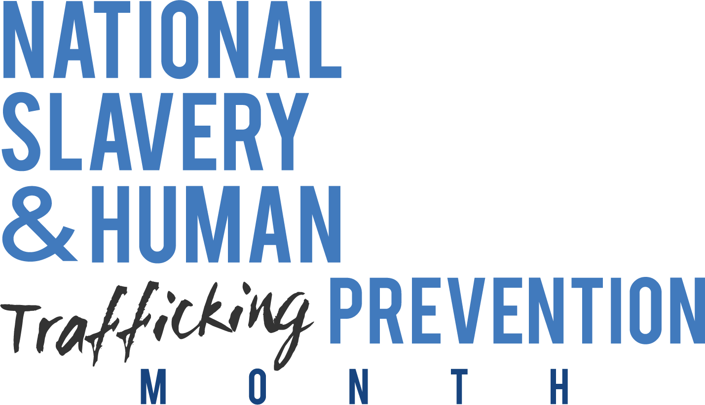 Job vector human trafficking. National slavery prevention month