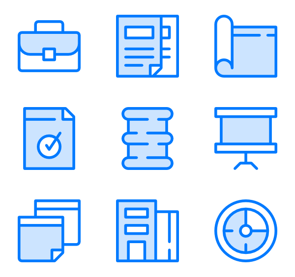 Working vector office desk. Job icons free