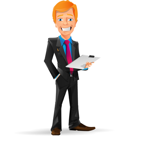 Job vector person. Image for free smiling