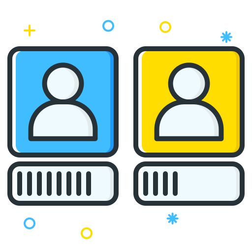Job vector seeker. Icons for free employee