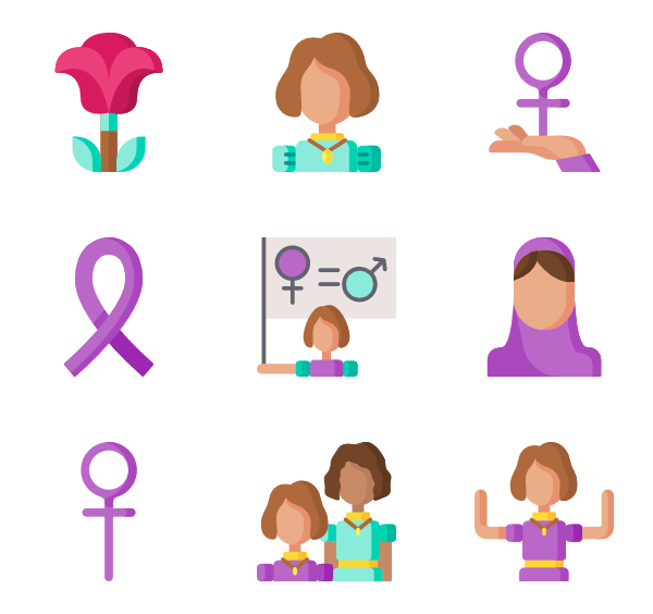 Protest vector stock photo. Woman icons free feminism