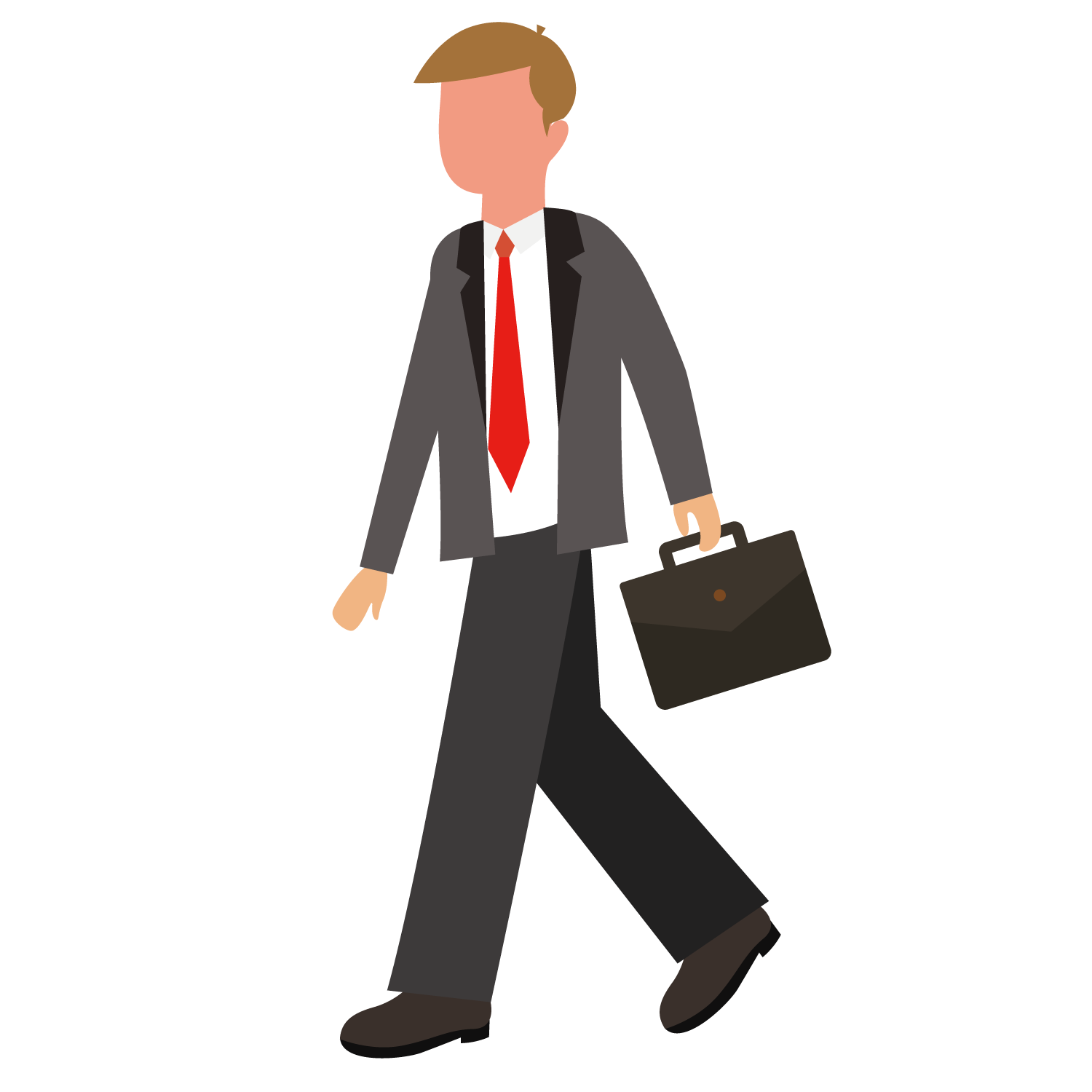Vector suit job ad. Briefcase business people holding