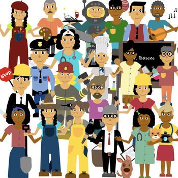 Jobs clipart. And community helpers with