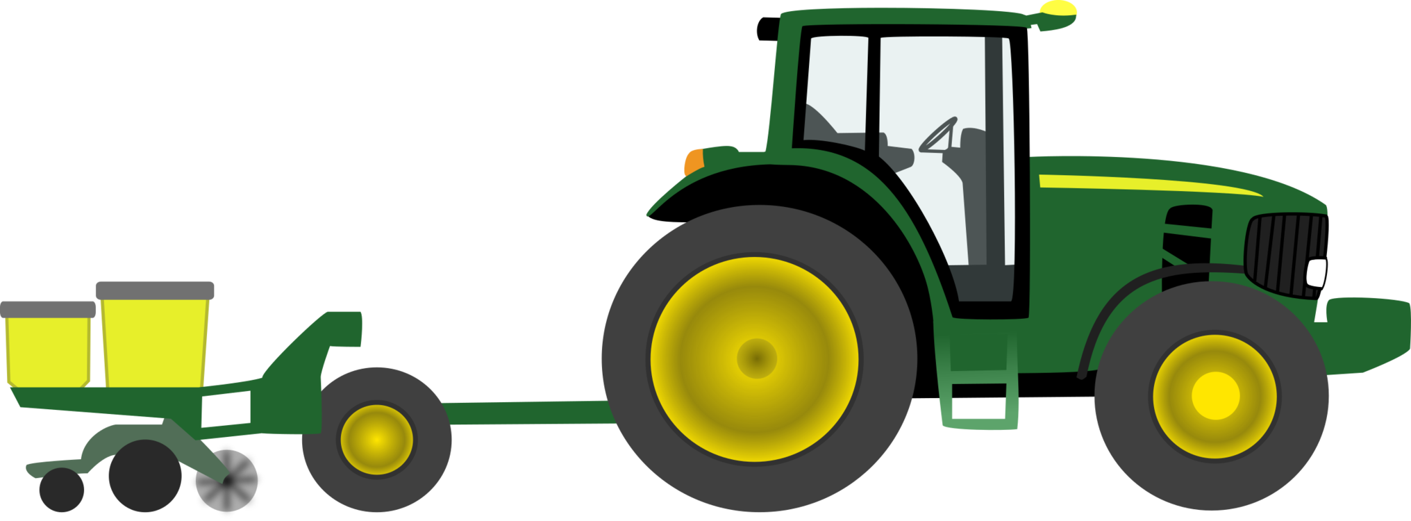 John deere clipart farm equipment. Tractor agriculture free commercial