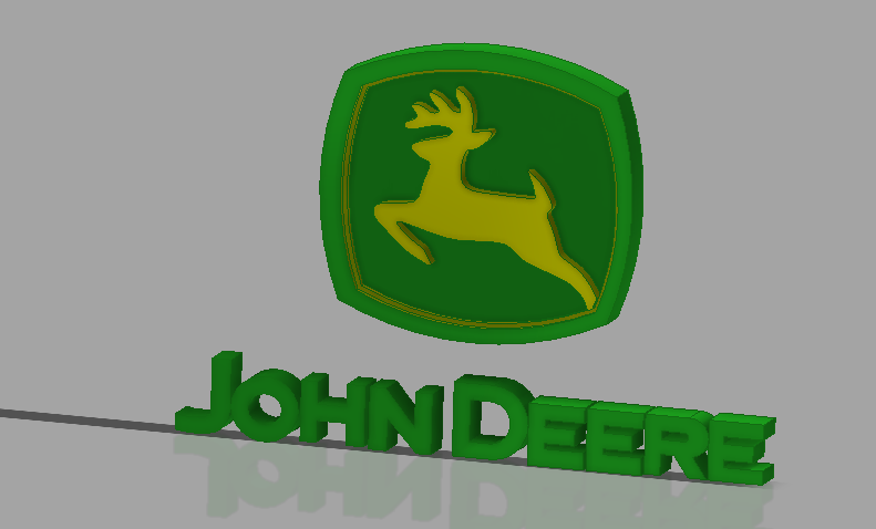 John deere clipart log. Logo d cad model