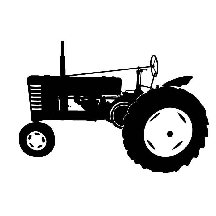 Tractor clipart tactor. Silhouette clip art antique