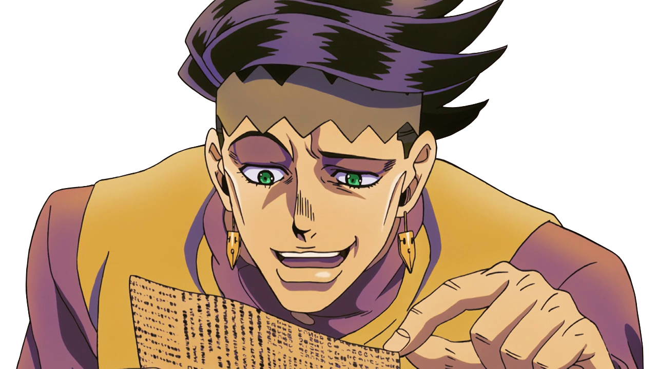 Jojo drawing portrait. Rohan laughs at your