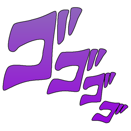 Jojo sound effects png. Manacing text over bat