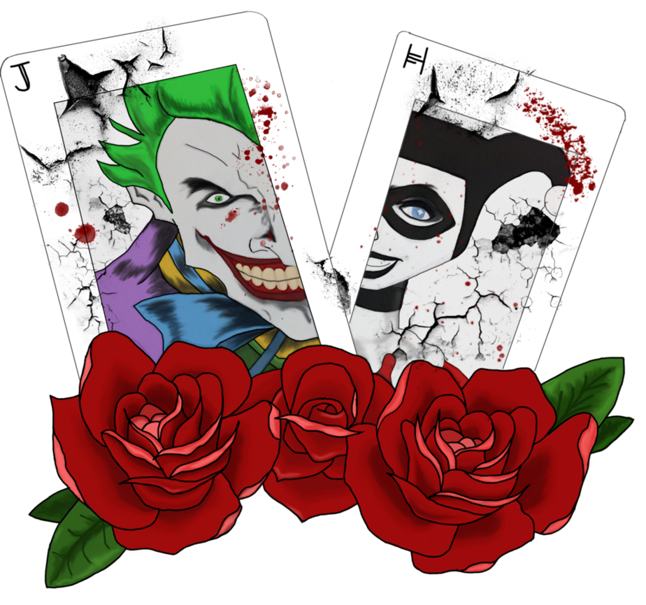 Joker and harley png. The quinn cards by