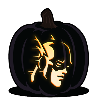 Jackolantern vector pumpkin carving. The flash template halloween