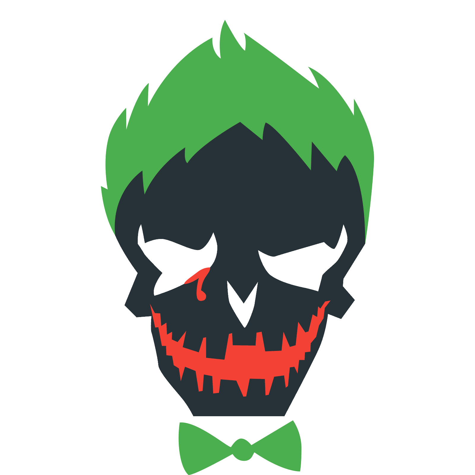 Joker face png. Suicide squad icon free