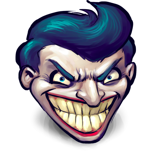 Joker face png. Watercolor icon clipart image