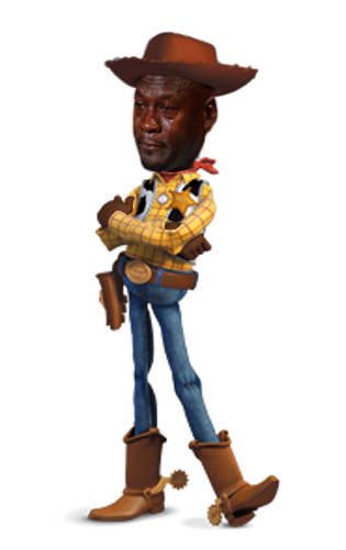 Jordan crying png. Sheriff woody michael know