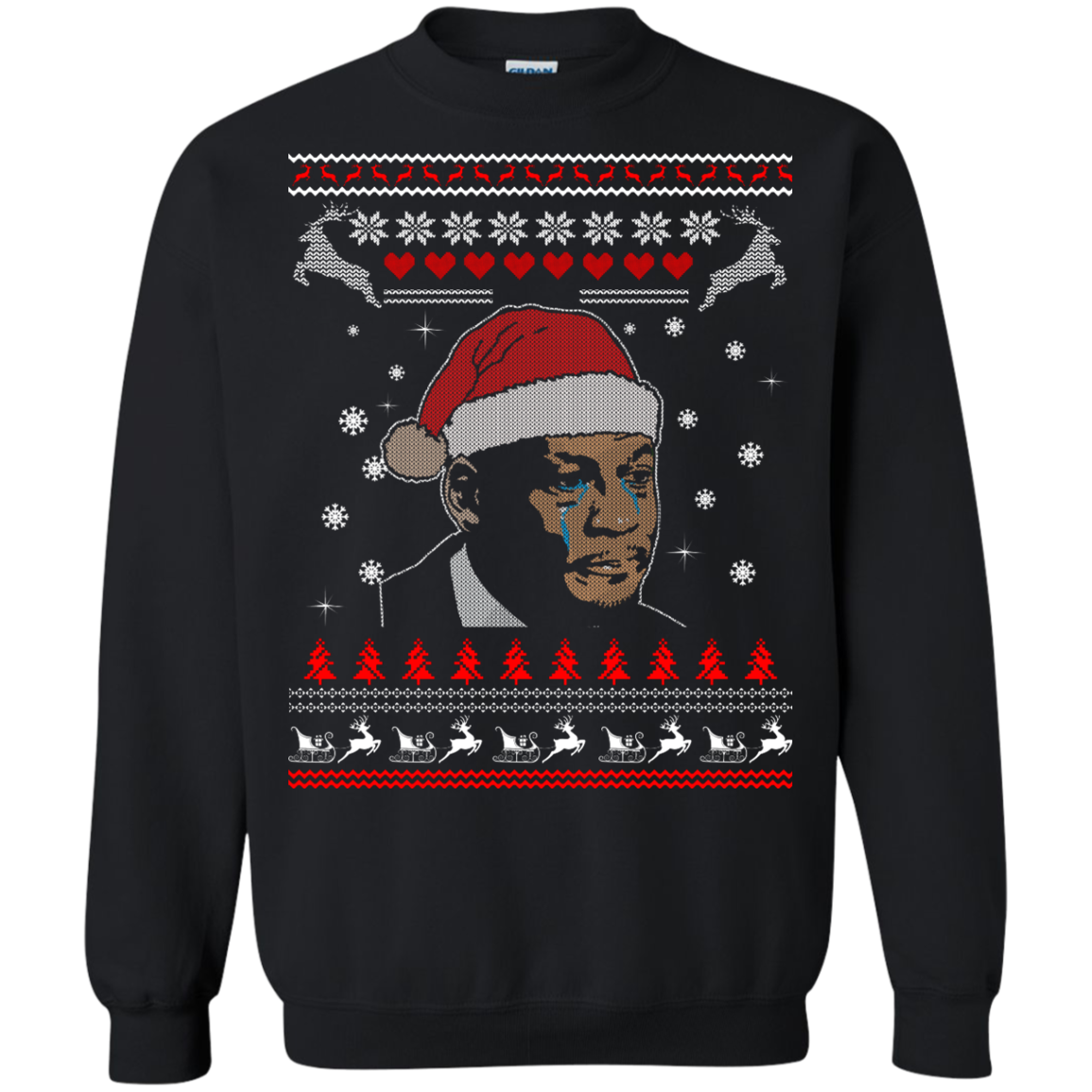 Jordan crying png. Christmas sweater long sleeve