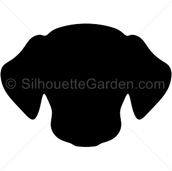 Dog head silhouette art. Clip at clipart download